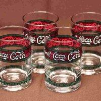 コカコーラ・ステンドグラス風・グラス4個セット