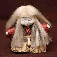 豆連獅子・木目込み人形