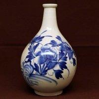 手描き・染付・花瓶・花器