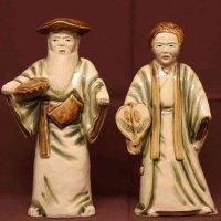 翁・嫗・陶製人形