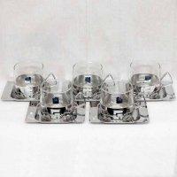 galaxy・グラス・皿・5個セット