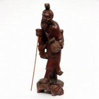 木彫り・釣り・老人・人形