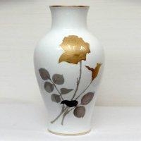 OKURA・大倉陶園・金蝕・バラ・花瓶