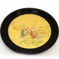 象彦・漆器・飾り皿・うさぎ・共箱