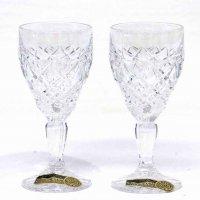 チェコスロバキア・ボヘミア・クリスタル・グラス・2個セット