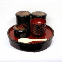 鹿野漆器・ちらしセット・寿司桶・お椀・ちらし重