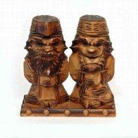 アイヌ・夫婦・木彫人形・民芸品・郷土玩具