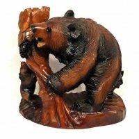 木彫り・熊親子・置物