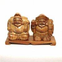 木彫り・七福神・恵比寿・大黒天・置物・縁起物