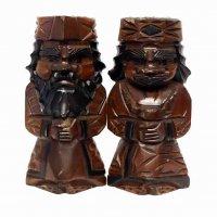 木彫り・アイヌ・民芸品・ニポポ人形・夫婦