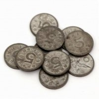 古銭・五銭硬貨・昭和21年・10枚セット
