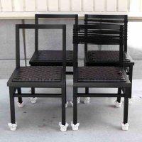 椅子・黒・4客セット
