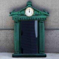 神殿風・ミラー・鏡・時計付
