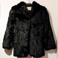 Cion GINZA TOKYO・兎毛皮・コート・フード付・ブラック