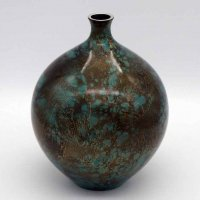 正晴・鋳銅・花瓶