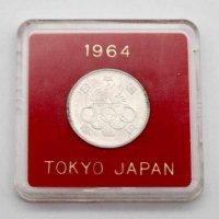 東京オリンピック・記念硬貨・100円・銀貨・昭和39年・1964年・ケース付
