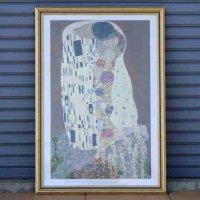 グスタフ・クリムト・Gustav Klimt・名画アートポスター・額入『接吻』