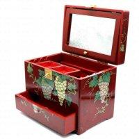 アンティーク・携帯ミニドレッサー・メイクボックス・化粧箱