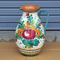 イタリア製・花柄・水差し・花器