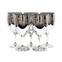 メタリックグラス・ワイングラス・ゴブレット・葡萄柄・5個セット