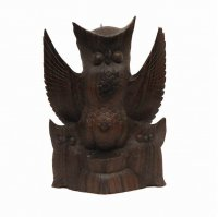 木製・木彫・ふくろう・置物・鳥