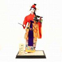 仲村洋子・沖縄人形・かせかけ・琉球人形・台付