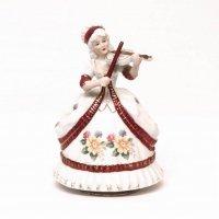 陶製・オルゴール・アンティーク・西洋人形
