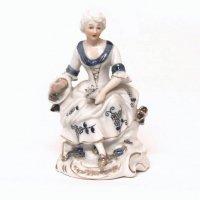 陶製・西洋人形・アンティーク・貴婦人・置物・雑貨