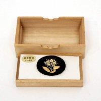 さのや・純金象嵌・ブローチ・工芸品・木製ケース付