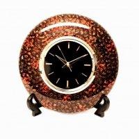 津軽塗(唐塗)水晶世界時計・LORD KING・ニットー時計・置時計・掛時計・飾り台付