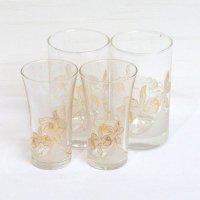 A CATTLEYA GLASS by yoko minamida・カトレア柄・グラス・4個セット