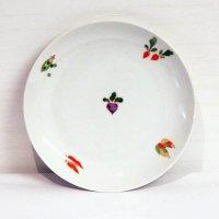 彩・野菜柄・中皿・5枚セット