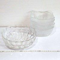 ガラス食器・ガラス小鉢・大鉢・4点セット