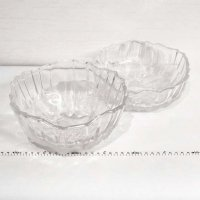 ガラス食器・ガラス大鉢・2点セット