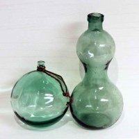 ひょうたん型ガラス瓶・浮き球・ビン玉・昭和レトロ・アンティーク