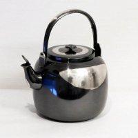 茶道具・銀煉し仕上・腰黒・高級・水注・やかん型