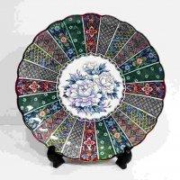 平野窯・花模様・大皿・絵皿・飾り皿