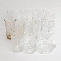 ガラス製・片口・小皿・グラス・ワイングラス・フラスコ型・ピッチャー・まとめ売り・18点セット