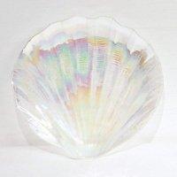 ガラス製・貝型・皿・飾り皿