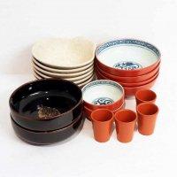 食器・大鉢・中鉢・呑水・陶器グラス・まとめ売り・計18点セット