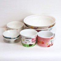 キャラクター・食器・マグカップ・椀・八角皿・大鉢・まとめ売り・8点セット