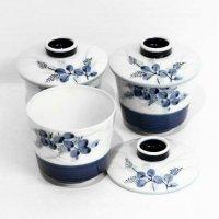萩窯・蒸し碗・茶碗蒸し・3客セット