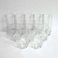 ガラス製・TRIANGLE・トライアングル・六角グラス・丸グラス・10点セット