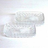 昭和レトロ・ガラス製・長角皿・鉢・5枚セット