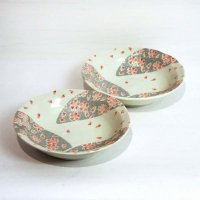 桜柄・中皿・丸皿・鉢・2枚セット