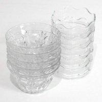 ガラス製・小鉢・梅小鉢・10個セット