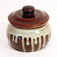 陶器・蓋付半胴瓶・かめ・丸かめ・保存容器