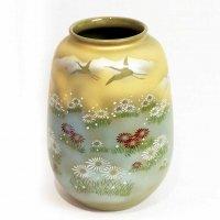 九谷焼・陶月・花器・花瓶