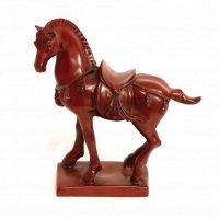 樹脂製・馬・赤・置物