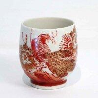 九谷焼・陶栄・湯呑茶碗